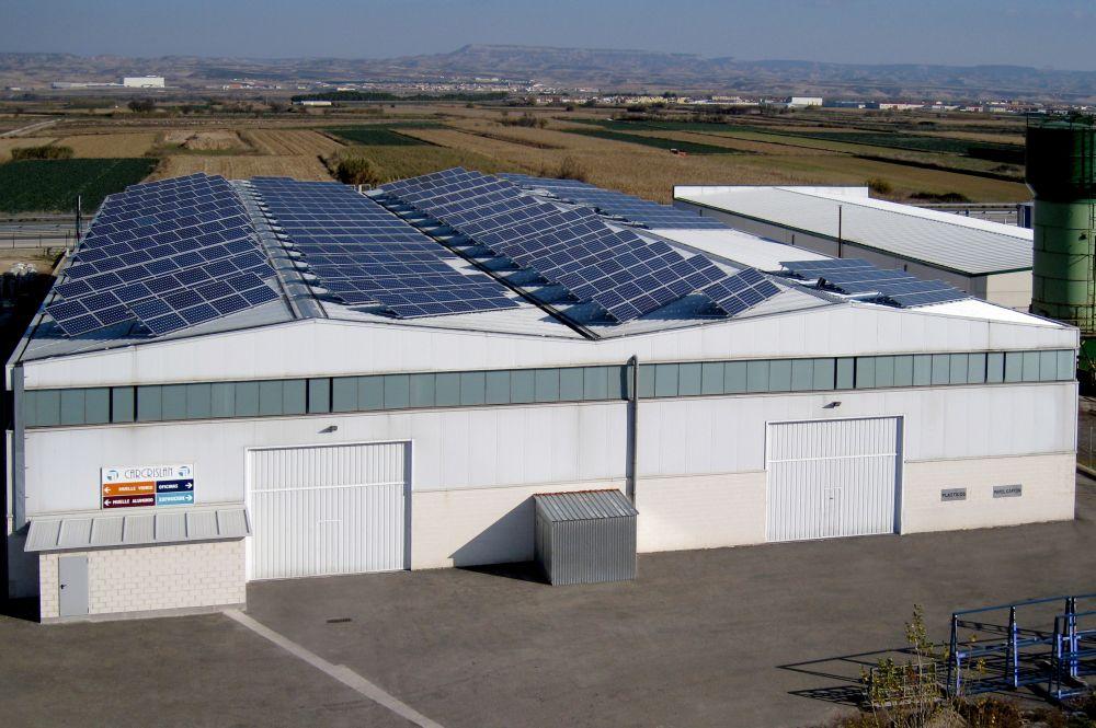 Cubierta Fotovoltaica De 100KW En Ribaforada (Navarra)